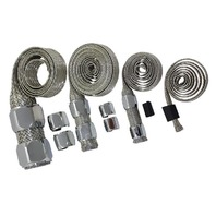 Stainless Braided Engine/Vacuum/Fuel/Heater/Oil Line Hose Sleeve Dress Up Chrome Kit