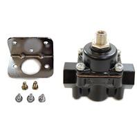 Black Aluminum Adjustable Fuel Pressure Regulator 4-9 PSI SBC BBC Ford Chevy