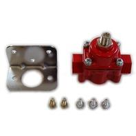 Red Aluminum Adjustable Fuel Pressure Regulator 4-9 PSI SBC BBC Ford Chevy