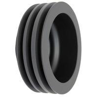 SBC Chevy 283-350 Black Aluminum LWP Triple Groove Crankshaft Pulley