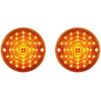 1955 1956 1957 Chevy Truck Amber LED Parking Light, Amber Lens, Pair - 55 56 57