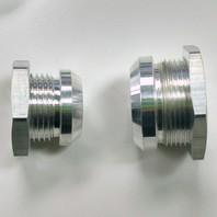 Polished Aluminum Firewall Bulkhead Hose Ring Fittings Set -6AN, 10AN, 5/8 inch