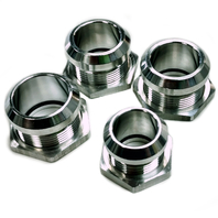 Polished Aluminum Firewall Bulkhead Hose Ring Fittings Set -6AN, 10AN, 5/8 inch