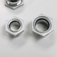 Satin Aluminum Firewall Bulkhead Hose Ring Fittings Set -6AN, 10AN, 5/8 inch