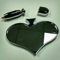 Chrome Aluminum Rear View Spade Mirror - Universal Custom Hot Rat Street Rod