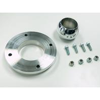 "Polished Aluminum Swivel Floor Mount 1-3/4"" Steering Columns Hot Rat Street Rod"