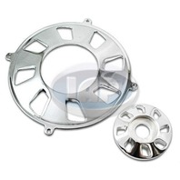 VW BUG GENERATOR PULLEY/ALTERNATOR  PULLEY 2-PIECE COVER SET POLISHED