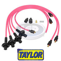 VW BUG BAJA SAND RAIL CAR SILICONE IGNITION PLUG WIRE SET PINK 8MM,TAYLOR USA