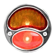 KNS Accessories KA0001 6V Stainless Steel Duolamp Tail Light for Ford Model A with Amber/Red Glass Lens and License Light