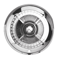 "15"" Lancer Hubcap with Chrome Center Bullet, Set Of 4"