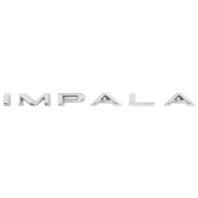 """1965-1966 Chevrolet  Chevy """"Impala"""" Script Letter Emblem Badge Set"""