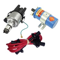EMPI VW 009 Comp.- Distributor W/Points Ignition, Red Screamer Kit KT-1009