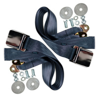 "(2) VW Bug Air Cooled, 2-Point Aviation Style Lap Seat Belt, BLUE,  72"" PAIR"