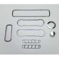 2010-2014 Ford Mustang Chrome Billet 8pc Interior Trim Kit