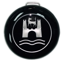 Steering Wheel Horn Button w/ Wolfsburg, VW Bug, Ghia, Type-1-2-3 (113-951-532)