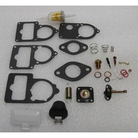 VW CarbURETOR 34/30/28 pict 3 ReBuild Kit Univ. WITH CUT OFF VALVE & FLOATS