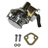 """Chrome Mechanical Fuel Pump Chevy BBC V8 396 402 427 454 1/4"""" NPT"""