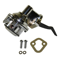 "Chrome Mechanical Fuel Pump FE Big Block Ford V8 390-428 1/4"" NPT"