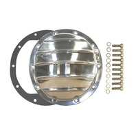 Polished Aluminum Chevy GM 10 Bolt Differential Cover For 8.5 Inch Ring Gear