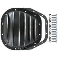 "Black Finned Aluminum Ford 12-Bolt 10.5"" RG Differential Cover F150 F250 F350"