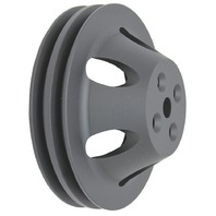 BBC Chevy 396-454 Black Aluminum SWP Double Groove Water Pump Pulley
