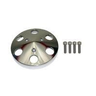 Plolished Aluminum Sanden 508 Style A/C Air Compressor Clutch Cover Faceplate