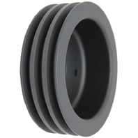 BBC Chevy 396-454 Black Aluminum SWP Triple Groove Crankshaft Pulley