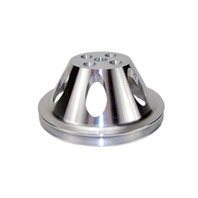 SBC Chevy 283-350 Machined Aluminum SWP Single Groove Water Pump Pulley