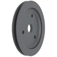 SBC Chevy 283-350 Black Aluminum SWP Single Groove Crankshaft Pulley