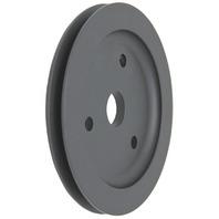 SBC Chevy 283-350 Black Aluminum SWP Single Groove Crankshaft Pulley