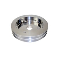 SBC Chevy 283-350 Machined Aluminum SWP Double Groove Crankshaft Pulley