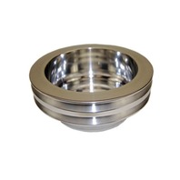 SBC Chevy 283-350 Polished Aluminum LWP Double Groove Crankshaft Pulley