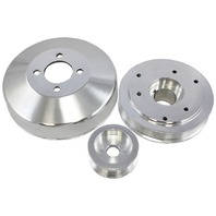 1990-2000 Ford Mustang 4.6L GT Polished Aluminum Serpentine Pulley Set