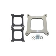 "3/8"" Open Square Aluminum Carburetor Spacer Fits Edelbrock Holley SBC BBC Chevy V8"