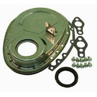 Raw SBC Chevy Timing Chain Cover W/Large Tab Kit