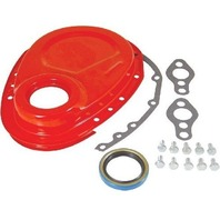 Orange SBC Chevy 283-350 Timing Chain Cover Kit