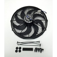 "16"" Electric Radiator Cooling Fan Curved Blade 12V 2500 CFM"
