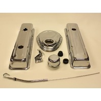 CHROME SMALL BLOCK CHEVY 1978-86 305-350 ENGINE DRESS-UP KIT