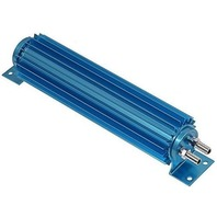 "Blue Aluminum Finned ""Dual Pass"" Transmission Cooler - 12"""