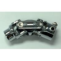"Forged Steel Chrome Universal Double Steering U-Joint 3/4"" DD x 3/4-30 Spline"