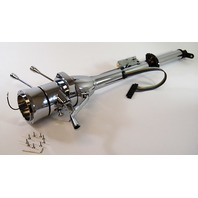 "Street Rod Chrome 32"" Tilt Steering Column With Ignition Column Shift"