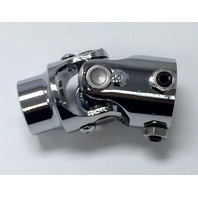"Forged Steel Chrome Universal Single Steering U-Joint 1"" DD x 1"" DD"