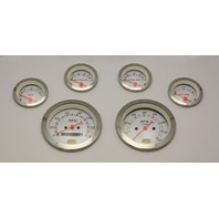 HOT ROD 6 PC. GAUGE SET MECHANICAL SPEEDO