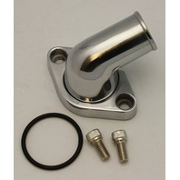 SBC BBC Chevy Polished Aluminum 15 degree Swivel Water Neck