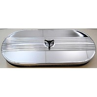 "21"" Chrome Finned Cobra Performance Air Cleaner Single Carb 1965-1973 Mustang"