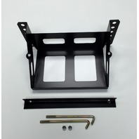 Adjustable Bolt-On Steel Black Battery Box 11 X 7.125