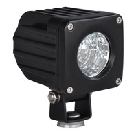 "Pirate 2.5"" Square 10 Watt Cree LED Flood Light, Black, Jeep, Truck, Off Road, U"