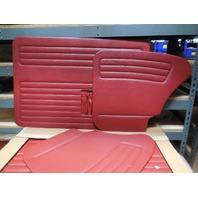 VW BUG 56-64 TMI  DOOR PANEL SET W/POCKETS,4-PC SET,RED 10-1127-17