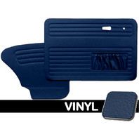 DOOR PANELS FRONT/REAR, 1967-78 VW BUG W/POCKETS BOTH SIDES, BLUE SMOOTH VINYL