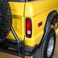 Billet Aluminum Tail Light Bezels 1966-77 Ford Bronco - Satin Black Anodized